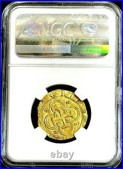 1556-1598 S D Gold Spain 2 Escudos Philip II Coin Ngc Mint State 62 Seville Mint