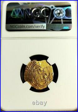 1598-1621 Spain 2 Escudos Gold King Philip III Seville Mint NGC MS 61