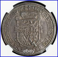 1621, Alsace, Archduke Leopold V. Silver Thaler Coin. Ensisheim mint! NGC AU-55