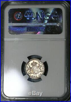 1773 NGC MS 62 Mexico 1/2 Real Colonial Spain Mint State Silver Coin (20030901C)