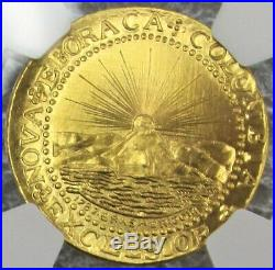 1787 2014 Gold Brasher Doubloon 26.4 Gram Private Re-issue Ngc Mint State 69