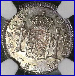 1814 NGC MS 64 Guatemala 1/2 Real Spain Colony Mint State Silver Coin 20051202C