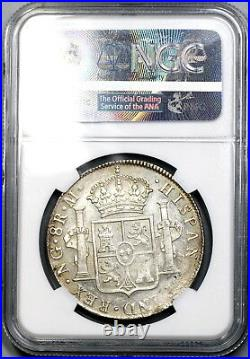 1821 NGC MS 60 Guatemala 8 Reales Spain Colony Mint State Silver Coin 18072302C