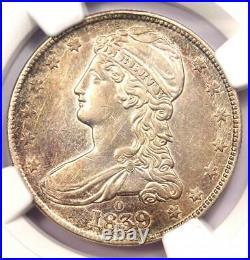 1839-O Capped Bust Half Dollar 50C NGC AU Details Rare O Mint Coin