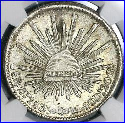 1839-Zs NGC MS 62 Mexico 8 Reales Rare Silver Mint State Coin POP 5/0 20011701C