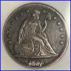 1844 Seated Liberty Dollar Ngc Au50 20,000 Minted