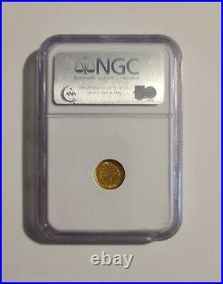 1853 Gold dollar $1 AU58 near mint