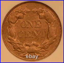 1857 Flying Eagle 1 Cent Graded Mint State MS63 by NGC