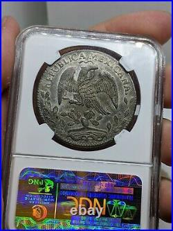 1863 O AE Mexico 8 Reales. Oaxaca Mint. NGC AU58 Premium Quality. Scarce Date