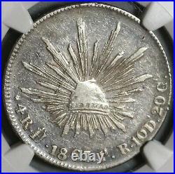 1867-Ho NGC XF Det Mexico 4 Reales Rare Hermosillo Mint Silver Coin (19122902C)