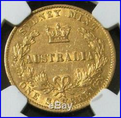 1870 Gold Australia Sovereign Coin Sydney Mint Ngc About Unc 50