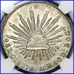 1879-Oa NGC MS 62 Mexico 8 Reales Oaxaca Mint Scarce Silver Coin (20081901C)