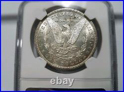 1879 S Morgan Silver Dollar NGC MS 64 Partial Collar Mint Error Off Center Coin