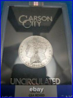 1882 CC US Morgan Silver Dollar CARSON CITY Mint NGC MS 63 GSA HOARD TONED