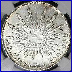 1883-As NGC MS 63 Mexico 8 Reales Rare Alamos Mint State Silver Coin (19092001C)