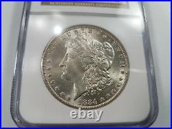 1884 O/O Silver Morgan Dollar NGC MS 64 Vam 10 DDO EAR Mint Error Hot 50
