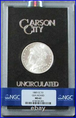 1885 CC Carson City Morgan Silver Dollar Gsa Hoard Coin Ngc Mint State 62