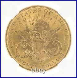 1898-S NGC AU58 $20 Liberty Head Double Eagle San Francisco Minted Twenty Dollar