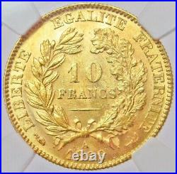 1899 A Gold France 10 Francs Ceres Coin Ngc Mint State 62
