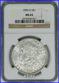 1899-O NGC Silver Morgan Dollar Mint State MS65 GEM