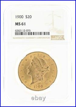 1900 Double Eagle NGC MS61 $20 Liberty Head Philadelphia Minted Beauty