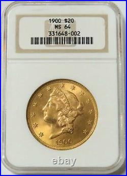 1900 Gold $20 Liberty Head Double Eagle Coin Ngc Mint State 64