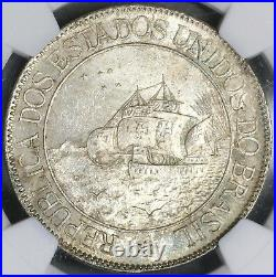 1900 NGC MS 63 BRAZIL Silver 2000 Reis DISCOVERY Coin 20K Minted (17120103C)