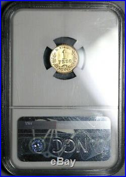1904-Mo NGC MS 65 Mexico Gold 1 Peso Coin Only 9845 Minted (19102701D)