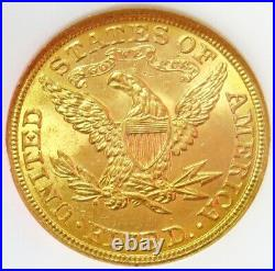 1908 Gold United States $5 Liberty Head Half Eagle Coin Ngc Mint State 63