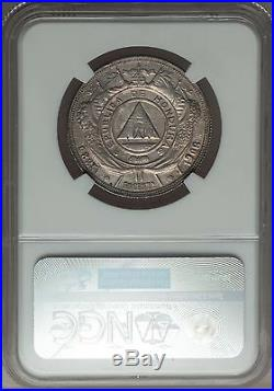 1908 Honduras 50 Centavos, NGC AU Details Cleaned, Seldom Offered, 447 Minted