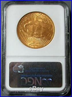 1910 Gold $20 Saint Gaudens Double Eagle Coin Ngc Mint State 63