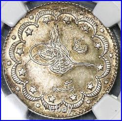 1911 NGC AU58 Salonika Mint Visit Ottoman Turkey 10 Kurush 1.5K Coin 19010301C