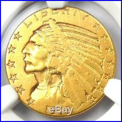 1913-S Indian Gold Half Eagle $5 Coin Certified NGC XF45 Rare S Mint