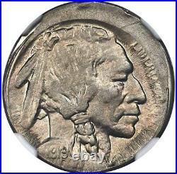 1919-s Buffalo Nickel 5c Ngc Ms63 Mint Error 10% Off-center, Super Rare