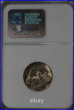 1920.05 NGC MS61 STRUCK 15% OFF CENTER MINT ERROR Buffalo Nickel