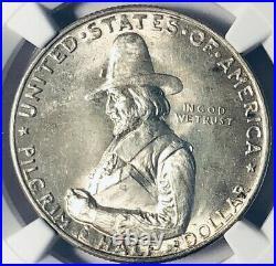 1920 Pilgrim Commemorative Silver Half Dollar- NGC MS 65 Mint State 65