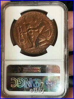 1920 Wilson So Called Dollar Manila Mint Opening Medal Bronze Hk 450 Ms 63rb