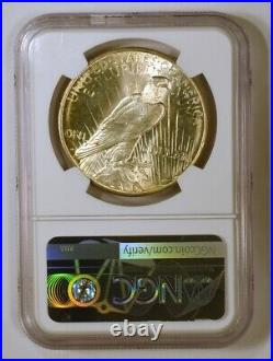 1926-D Silver Peace Dollar Coin from the Denver Mint Graded MS64 by NGC