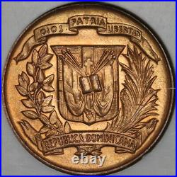 1942 NGC MS 64 RED Dominican Republic 1 Centavo Mint State Coin (20060801C)