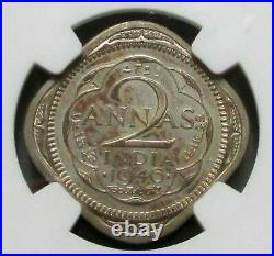 1946 B India 2 Annas Ngc Proof 62 King George VI Coin Restrike Bombay Mint