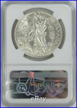 1947 Silver Panama 1 Balboa Lady Liberty Coin Ngc Mint State 65