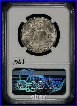 1949-S 50c FRANKLIN HALF DOLLAR, ORIGINAL MINT SET TONING NGC MS 66 LOT#T961