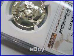 1958 Proof Franklin Half Dollar NGC PF 67 Obverse Struck Thru Mint Error Strike