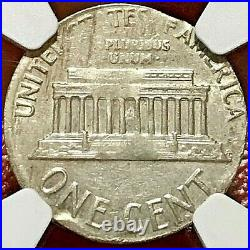 1964-d Cent Struck On Silver Dime Planchet Ngc Au Off-metal Mint Error