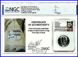 1964-d Kennedy Half Dollar 50c Original Fed Res Mint Bag Ngc Choice Bu Fdoi Rare