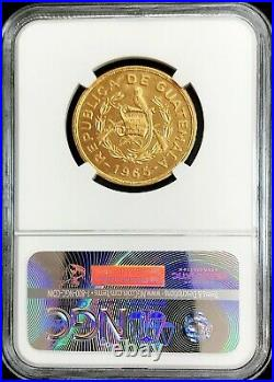 1965 Gold Guatemala Tecun Uman 1/2 Oz Commemorative Ngc Mint State 66