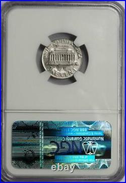 1967 NGC MS64 Cent Struck On Struck Dime Mint Error Double Denomination 2 Dates