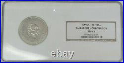 1967 PALLADIUM TONGA 2.01oz HAU HISTORICALLY 1st PALLADIUM COIN MINTED NGC MS65