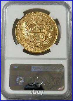 1969 Gold Peru 540 Minted 100 Soles Seated Liberty Coin Ngc Mint State 64