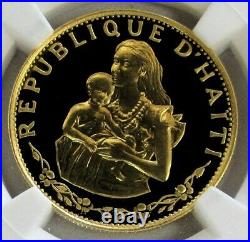 1973 Gold Haiti 500 Gourdes 915 Minted Mother & Infant Coin Ngc Proof 67 Uc